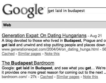 Google results for August 28,2007
